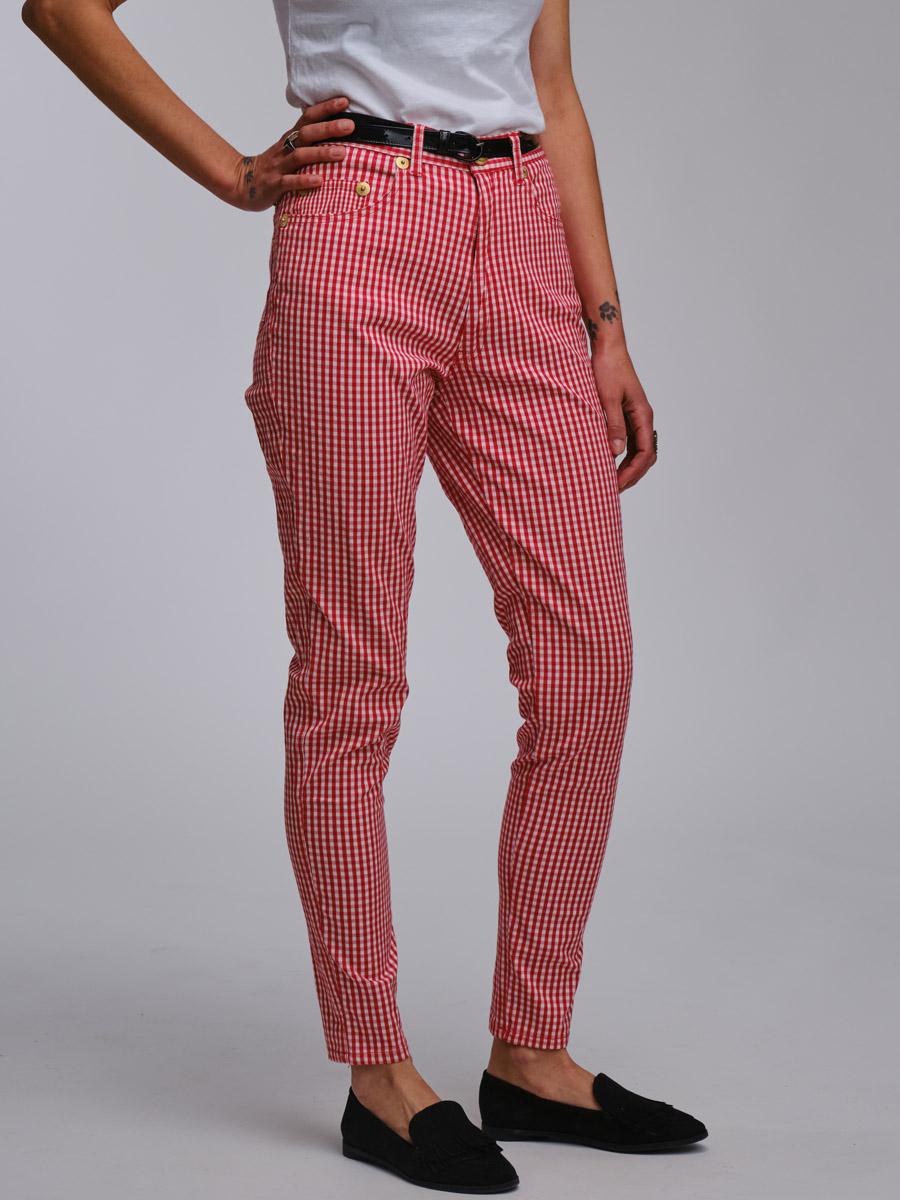 Moschino Vichy Cigarette Trousers