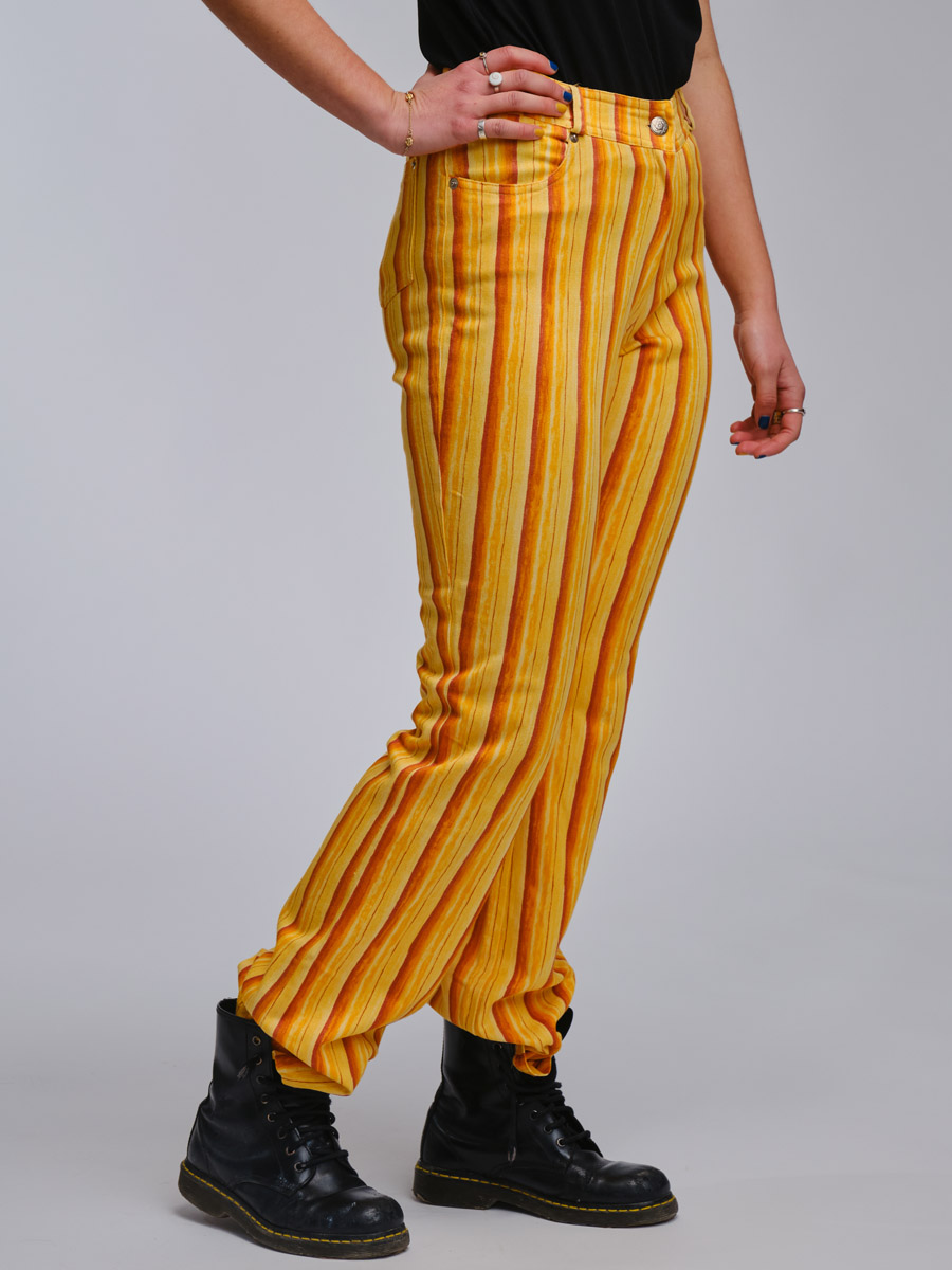 Sunny Side Stripped Vintage Trousers
