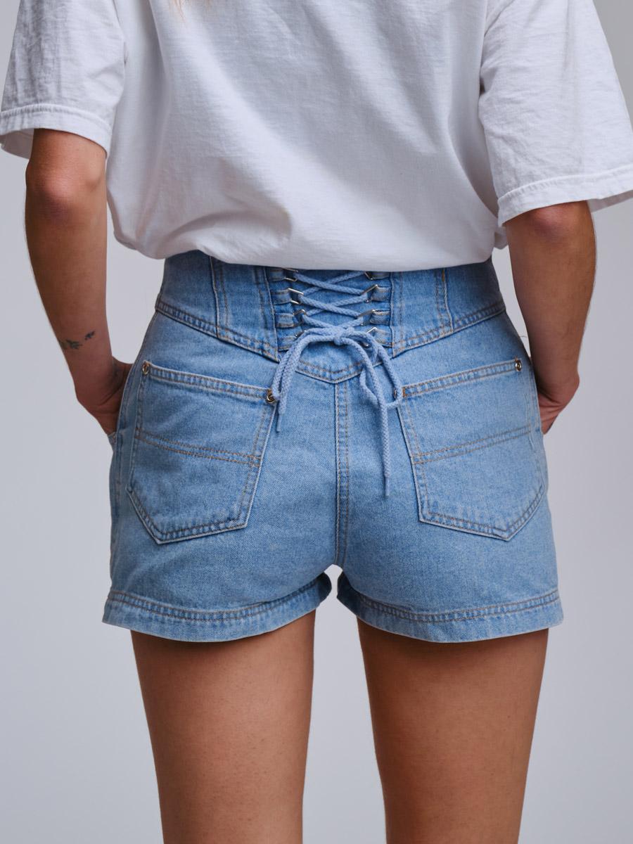Tie Me Up Vintage Denim Shorts