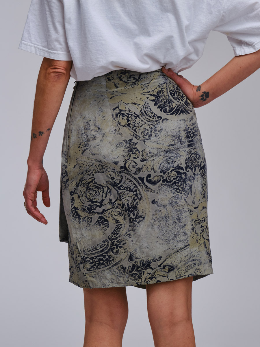 Vintage Max Mara Silk Skirt