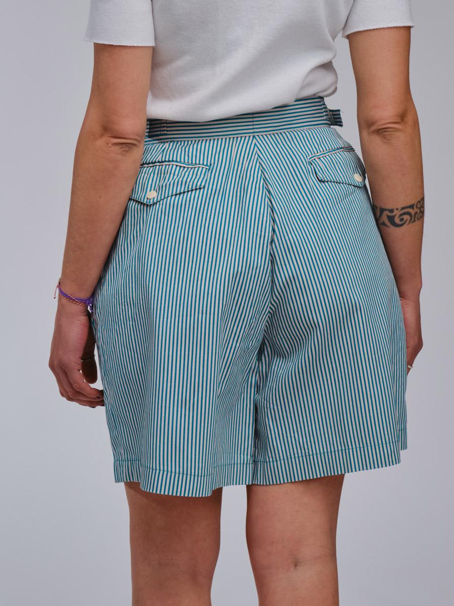 White Stripes Vintage Shorts