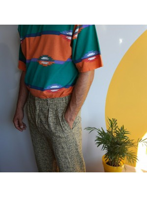 Textured, 90s, mens trousers