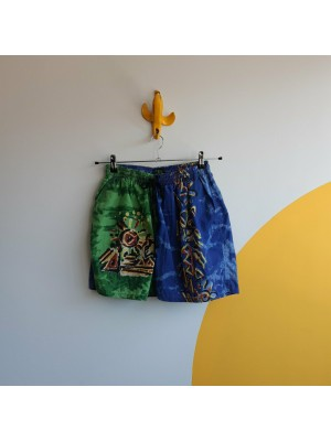 Blue or green, 80s, patterned, summer shorts