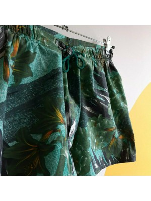 Tropical green, summer shorts