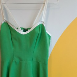 70s, green, tennis dress