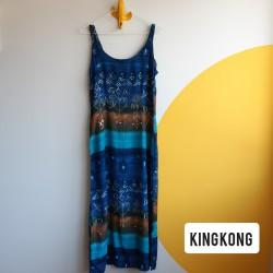 90s, maxi, shades of blue, dress