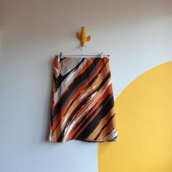 70s, warm toned, vintage, A-line skirt