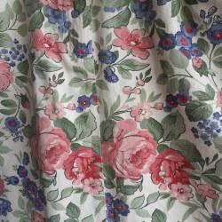 Denim, floral, pencil skirt