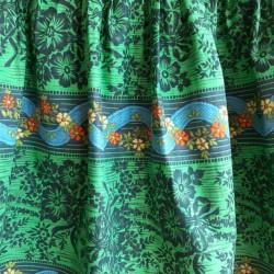 Green, floral, summer, skirt
