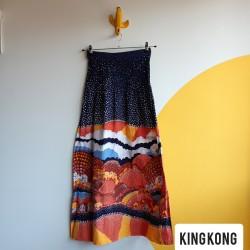 Japan meadows, cotton, maxi skirt