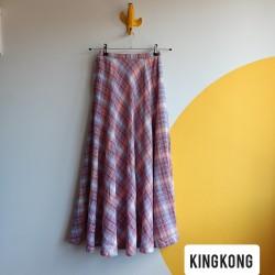 Plaid, maxi, vintage skirt