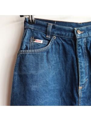 Highwaisted 80s knee length denim skirt