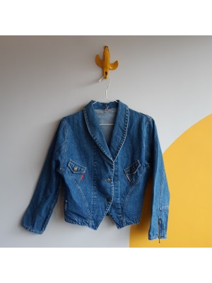 Vintage Denim Women cropped jacket