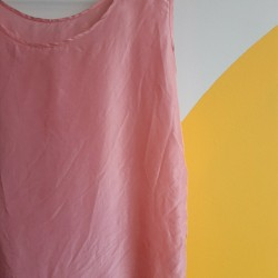 Baby pink, pure, silk top