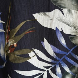 Pure silk, jungle leaves top
