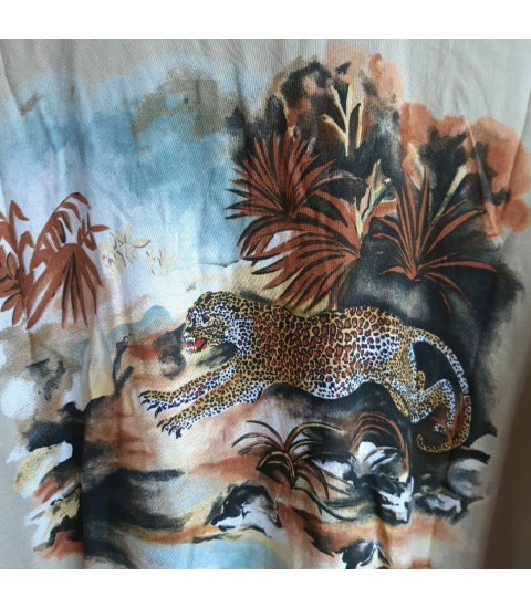 Tiger print viscose top