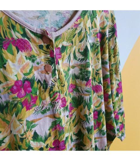 Vivid floral tshirt