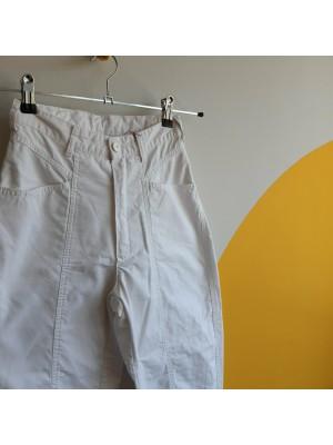 Carrot leg super highwaisted white trousers